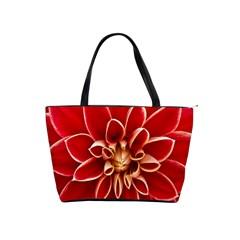 Red Dahila Large Shoulder Bag
