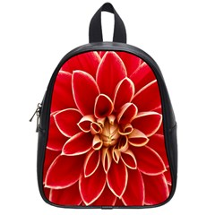 Red Dahila School Bag (small)