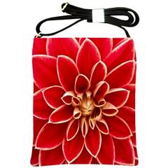 Red Dahila Shoulder Sling Bag