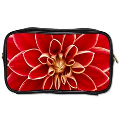 Red Dahila Travel Toiletry Bag (Two Sides)