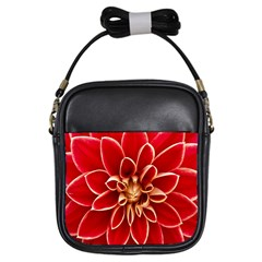 Red Dahila Girl s Sling Bag