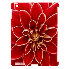 Red Dahila Apple Ipad 3/4 Hardshell Case (compatible With Smart Cover)