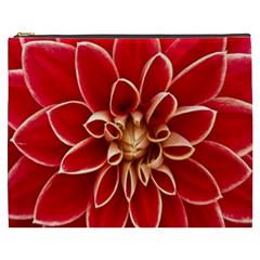 Red Dahila Cosmetic Bag (XXXL)