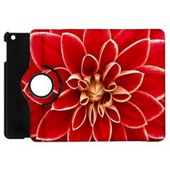 Red Dahila Apple Ipad Mini Flip 360 Case