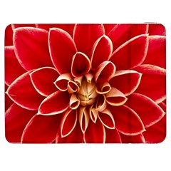 Red Dahila Samsung Galaxy Tab 7  P1000 Flip Case