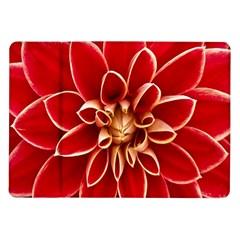 Red Dahila Samsung Galaxy Tab 10.1  P7500 Flip Case