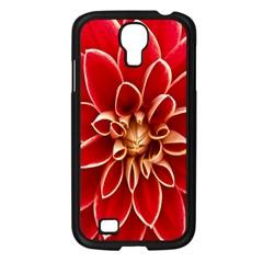 Red Dahila Samsung Galaxy S4 I9500/ I9505 Case (Black)