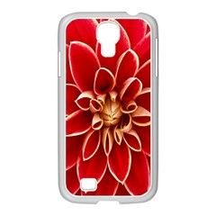 Red Dahila Samsung GALAXY S4 I9500/ I9505 Case (White)