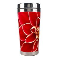 Red Dahila Stainless Steel Travel Tumbler