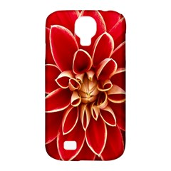 Red Dahila Samsung Galaxy S4 Classic Hardshell Case (PC+Silicone)
