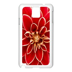 Red Dahila Samsung Galaxy Note 3 N9005 Case (White)