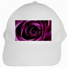 Deep Purple Rose White Baseball Cap