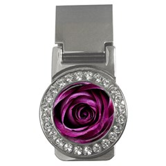 Deep Purple Rose Money Clip (CZ)