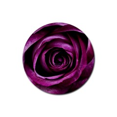 Deep Purple Rose Drink Coaster (round)