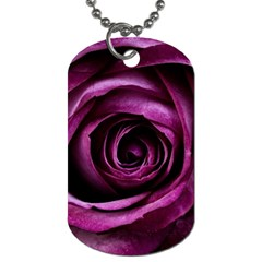 Deep Purple Rose Dog Tag (One Sided)