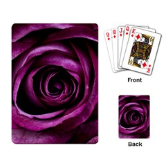 Deep Purple Rose Playing Cards Single Design
