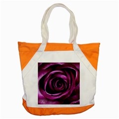 Deep Purple Rose Accent Tote Bag