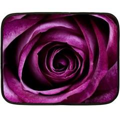 Deep Purple Rose Mini Fleece Blanket (two Sided)