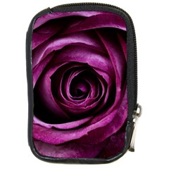 Deep Purple Rose Compact Camera Leather Case