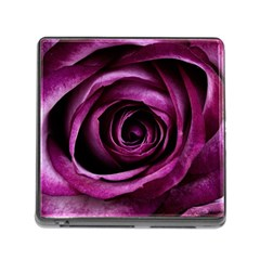 Deep Purple Rose Memory Card Reader With Storage (square)