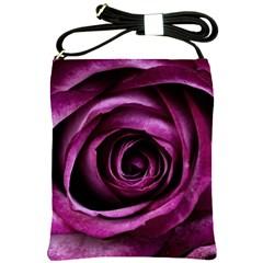 Deep Purple Rose Shoulder Sling Bag