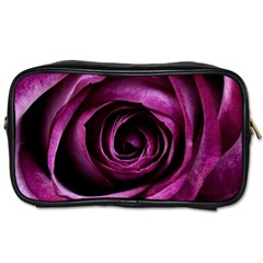 Deep Purple Rose Travel Toiletry Bag (Two Sides)