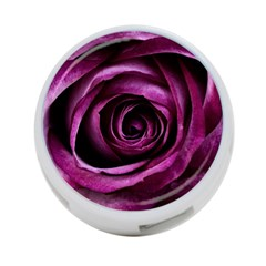 Deep Purple Rose 4-Port USB Hub (One Side)