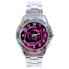 Deep Purple Rose Stainless Steel Watch