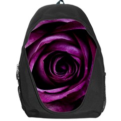 Deep Purple Rose Backpack Bag