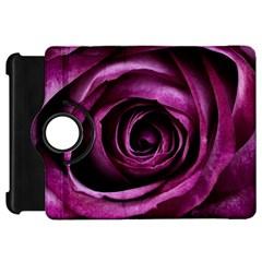 Deep Purple Rose Kindle Fire HD 7  (1st Gen) Flip 360 Case