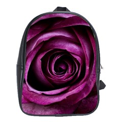 Deep Purple Rose School Bag (XL)
