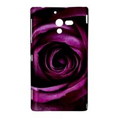 Deep Purple Rose Sony Xperia ZL (L35H) Hardshell Case