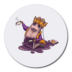 Royaltea 8  Mouse Pad (round)