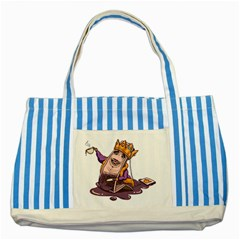 Royaltea Blue Striped Tote Bag