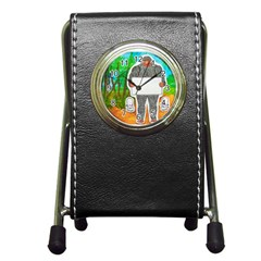 Yowie A, Text In Aussie Outback, Stationery Holder Clock
