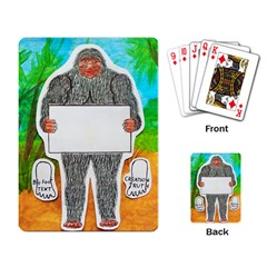 Yowie A, Text In Aussie Outback, Playing Cards Single Design