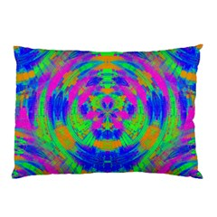 Neon Abstract Circles Pillow Case (Two Sides)
