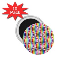 Rainbow Waves 1.75  Button Magnet (10 pack)