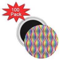 Rainbow Waves 1.75  Button Magnet (100 pack)