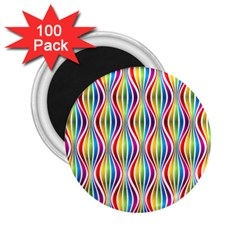 Rainbow Waves 2.25  Button Magnet (100 pack)