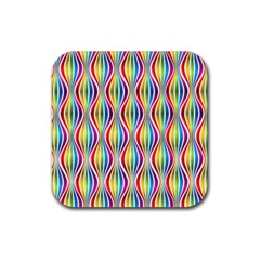 Rainbow Waves Drink Coasters 4 Pack (square)