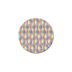 Rainbow Waves Golf Ball Marker 10 Pack