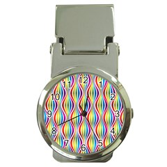 Rainbow Waves Money Clip With Watch