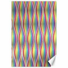 Rainbow Waves Canvas 12  X 18  (unframed)