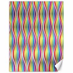 Rainbow Waves Canvas 18  x 24  (Unframed)