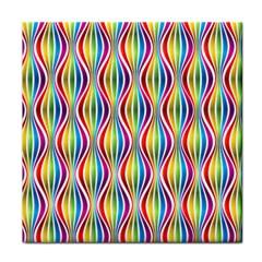 Rainbow Waves Face Towel