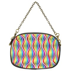 Rainbow Waves Chain Purse (two Sided)
