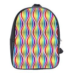 Rainbow Waves School Bag (Large)