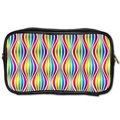Rainbow Waves Travel Toiletry Bag (One Side)