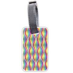 Rainbow Waves Luggage Tag (Two Sides)